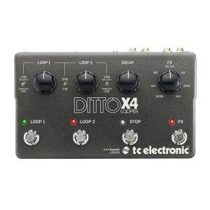 TC Electronic Ditto X4 Looper 多彩なループプレイをキメれるフラッグシップモデル