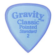 GRAVITYGUITARPICKSClassicPointed-StandardMasterFinish-GCPS2M2.0mmBlue�ԥå�