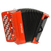 RolandFR-4XBRDV-Accordionレッドデジタルアコーディオンボタン鍵盤タイプ