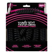 ERNIEBALL604430'CoiledStraight/StraightInstrumentCableBLACKギターケーブル