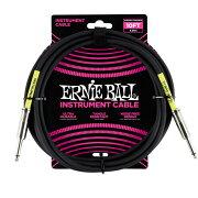 ERNIEBALL604810'STRAIGHT/STRAIGHTINSTRUMENTCABLEBLACKギターケーブル