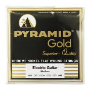 PYRAMIDSTRINGSEGGold011-048chromenickelflatwoundsonroundcoreフラットワウンドエレキギター弦