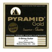 PYRAMIDSTRINGSEGGold012-052chromenickelflatwoundsonroundcoreフラットワウンドエレキギター弦