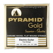 PYRAMIDSTRINGSEGGold013-056chromenickelflatwoundsonroundcoreフラットワウンドエレキギター弦
