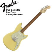 FenderDuo-SonicHSPFCanaryDiamondエレキギター