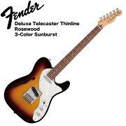 FenderDeluxeTelecasterThinlineRW3TSBエレキギター