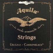 AQUILAAQC-CLW149UCarbonblackSeriesコンサートウクレレ弦LOW-G4弦巻線
