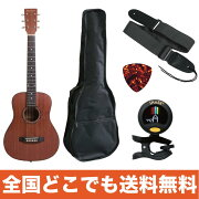 ANTIQUENOELAM-0MAHOミニアコースティックギタークリップチューナーストラップピック付き初心者入門セット