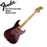 FenderKenStratocasterGalaxyRedエレキギター