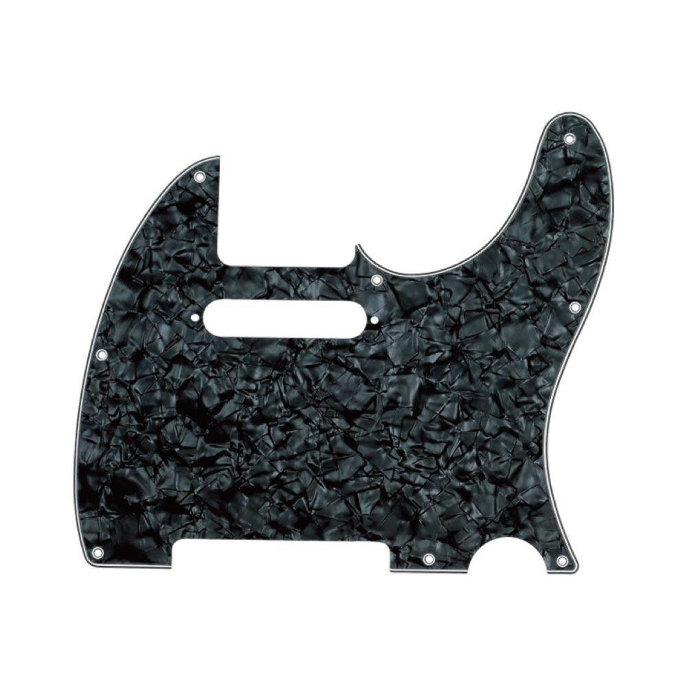 ギター用アクセサリー・パーツ, その他 Fender Multi-Ply Telecaster 8-Hole 4-Ply Black Pearl