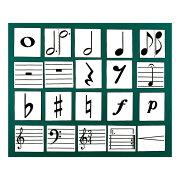 全音ZOK-9楽譜記号マグネットカード黒板表示用教材