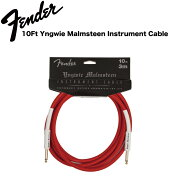 FenderYngwieMalmsteenInstrumentCables10ftSSRedギターケーブル