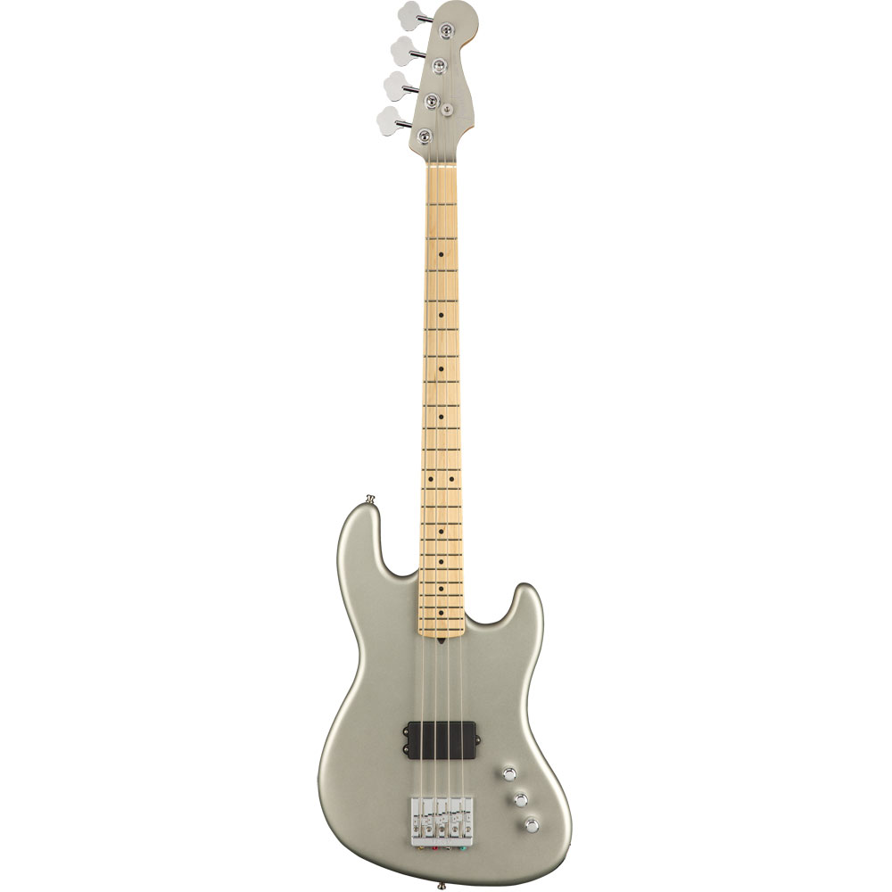 ベース, エレキベース Fender Flea Signature Active Jazz Bass MF Satin Inca Silver
