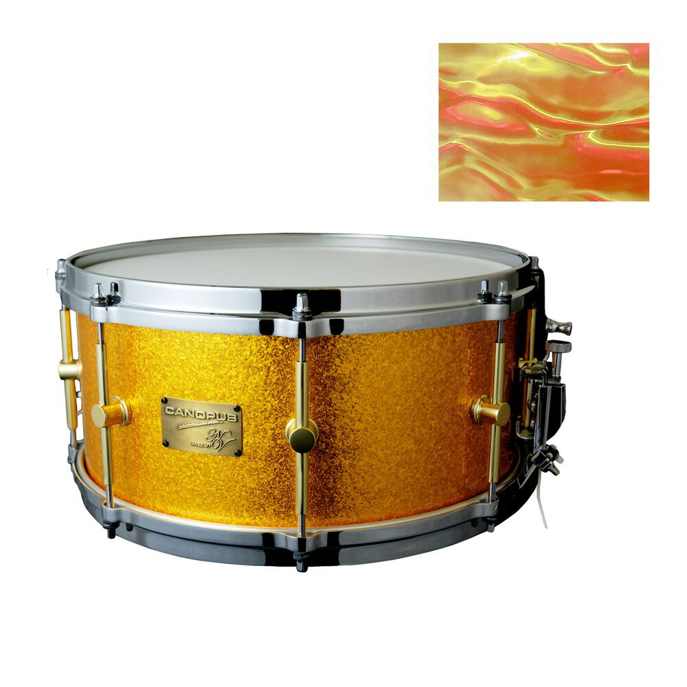 ドラム, スネア CANOPUS NV60M1S-1465 14x6.5 Marmalade Swirl PC
