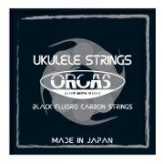 ORCASOS-TEN/TENORウクレレ弦オルカスブラックカーボンウクレレ弦テナー用