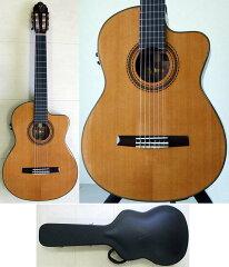 ヴァレンシア 薄型ボディ エレクトリック クラシックギターValencia CCG1 ハードケース付き エ...