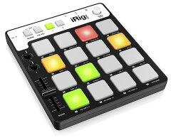 iPhone/iPad/iPod touch/Mac/PC 全てに使えるコントローラーIK Multimedia iRig Pads MIDI gro...