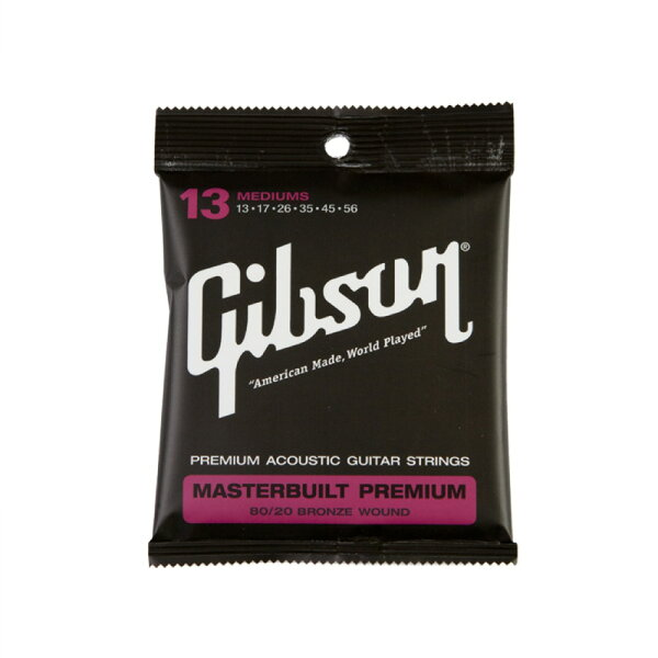 GibsonSAG-BRS13MasterbuiltPremium80/20Bronzeアコースティックギター弦×3セット
