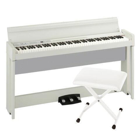 KORG C1 AIR WH 電子ピアノ KORG JS-SB100 WH キーボードベンチセット