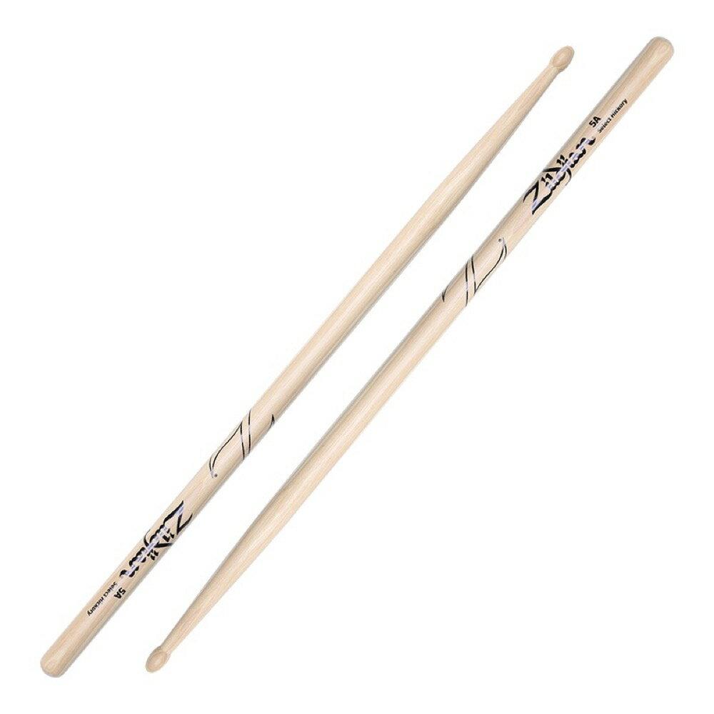 ドラム, スティック ZILDJIAN LAZLZ5A Hickory Series 5A WOOD NATURAL DRUMSTICK 6