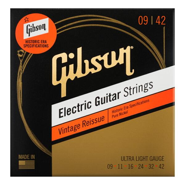 GIBSONSEG-HVR9VintageReissueUltra-Lightエレキギター弦×3セット