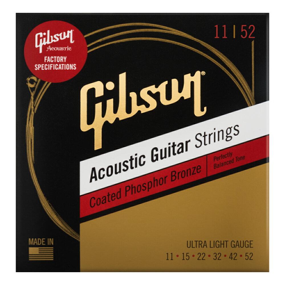 ギター用アクセサリー・パーツ, アコースティックギター弦 GIBSON SAG-CPB11 Coated Phosphor Bronze Ultra-Light 3