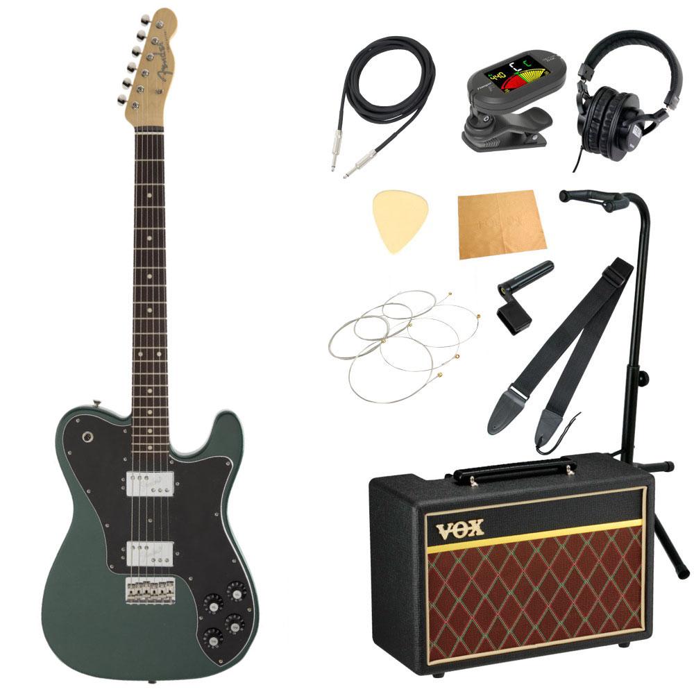 セット, エレキギターセット Fender Made in Japan Hybrid Telecaster Deluxe RW Sherwood Green Metallic VOX 11