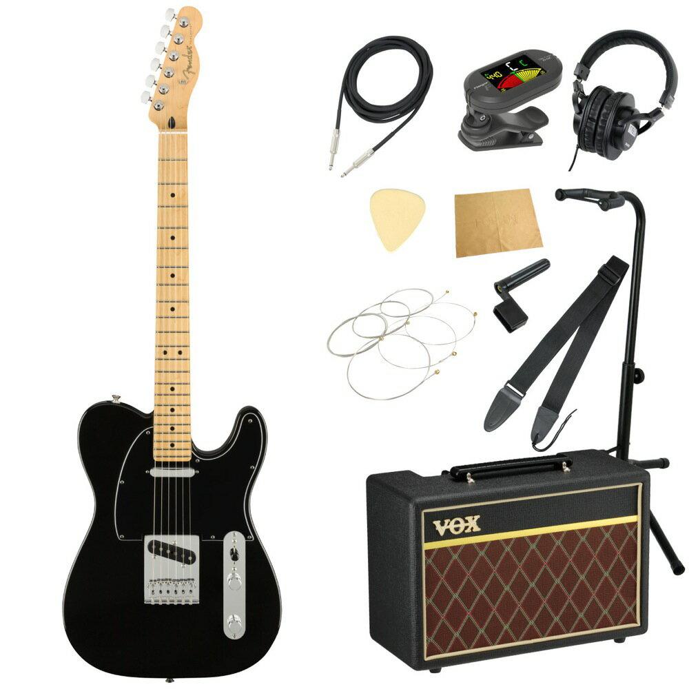セット, エレキギターセット Fender Player Telecaster MN Black VOX 11