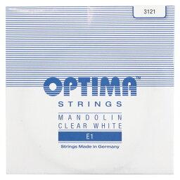 Optima Strings E1 3121 CLEAR WHITE 1弦 バラ弦 マンドリン弦×3セット