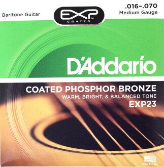 D ' 阿黛瑞爾 EXP23 塗層錫磷青銅男中音吉他 x 5 集男中音聲學吉他弦