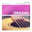 D'Addario EJ38H Phosphor Bronze High Strung/Nashville Tuning アコースティックギター弦×3SET