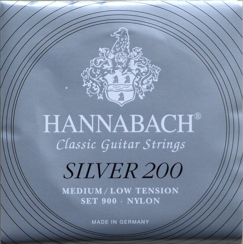 ギター用アクセサリー・パーツ, クラシックギター弦 HANNABACH Silver 200 MEDIUMLOW TENSION 6