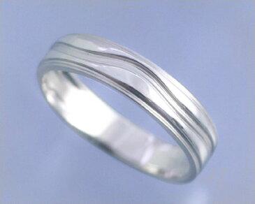 AI mavie(アイ マヴィ)K14ホワイトゴールド リング/結婚指輪(指輪)「vague(ヴァグ)」Men's/メンズ【送料無料】【コンビニ受取対応商品】