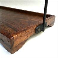 ディスプレイスタンドシーシャムウッドインドハンドメイドロートアイアン手作り天然木無垢材カントリーヴィンテージレトロ
