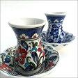 トルコ製 チャイグラス チャイバルダグ 陶器 トルコ トルコ雑貨 ブルー お洒落