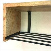 マンゴーウッドアイアン2段ウォールラックアイアン木製壁掛け棚タオルハンガータオル掛けスパイスラック壁収納飾り棚キッチンシェルフディスプレイ棚ウォールシェルフお洒落おしゃれキッチン収納北欧