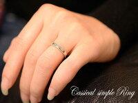 【送料無料】ダイヤモンドリングピンキーリング指輪地金シンプル平打ちミル打ちk18ホワイトゴールドアンティークレディース婚約指輪結婚指輪ブライダル