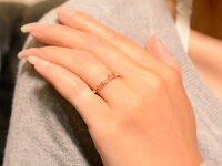 [送料無料]ティアラリングダイヤモンドピンキーリング指輪ミル打ち0.05ct指輪4月誕生石K18ピンクゴールド王冠18kダイヤモンドティアラリング