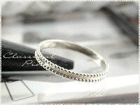 【送料無料】ピンキーリング指輪地金シンプル平打ちミル打ちk10ホワイトゴールドアンティーク