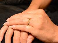 【送料無料】レディースリングイエローゴールドk18シンプルk18結婚指輪エンゲージリングハンドメイド甲丸18k18金3mm【_包装】