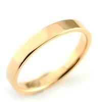 【送料無料】ペアリングマリッジリング18k平ウチピンクゴールドK18記念日指輪婚約指輪石なしエンゲージリング結婚指輪【_包装】