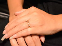 【送料無料】メンズリングダイヤモンドピンクゴールドk18シンプルk18ストレート平打ち地金リングダイヤダイヤモンド結婚指輪ハンドメイド18k18金一粒3mm【_包装】
