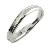 【送料無料】指輪婚約指輪結婚指輪エンゲージリングシンプルリングプラチナプラチナ900pt900レディース石なし地金ウエーブ溝有り曲線【_包装】0824カード分割