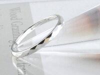 【送料無料】メンズカットリング地金リング甲丸ホワイトゴールドk1010k10金リングシンプル結婚指輪ハンドメイド【_包装】0824カード分割