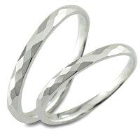 【送料無料】結婚指輪マリッジリングホワイトゴールドk1010k10金甲丸カットリングペア2本セットペアリングストレートメンズレディース記念日指輪【_包装】0824カード分割