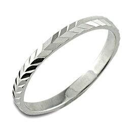 メンズ カットリング 地金リング 平打ち ホワイトゴールド k10 10k リング シンプル 結婚指輪 ハンドメイド 10金