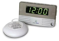 絶対起きる!!大音量 & 爆裂振動式目覚し時計, 最大59分間鳴りっぱなし設定可能!! 2時刻…