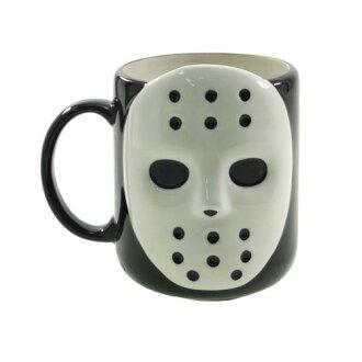 Hola 面具傑森風杯陶瓷表面白色小工具禮品餐具存儲電影收藏