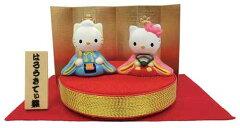 【雛人形 キャラクター】ハローキティ ちりめん台ひな人形 吉徳 サンリオキャラグッズ通販 シネ…