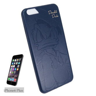 可愛加上皮革夾克海軍迪士尼唐老鴨 iPhone6s Plus/6 加上案例 iPhone s 6 5.5 英寸型號 iPhone s 6 + 平裝書動漫動漫/漫畫電影收藏
